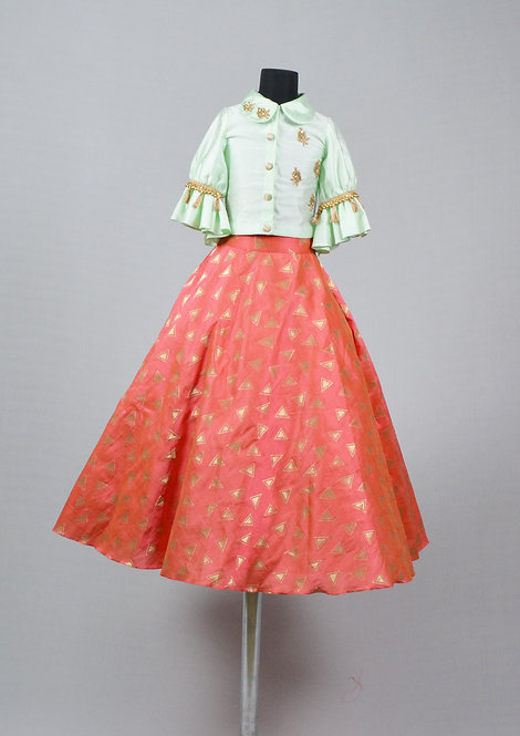 Triangle Brocade Skirt and Top