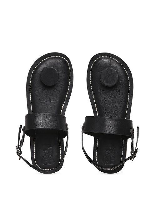 Boys Black Circle Grip Sandal