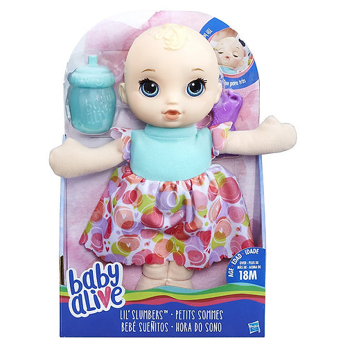 Baby Alive Lil' Slumbers Baby Doll, Toy Doll For 18 Months Old And Up