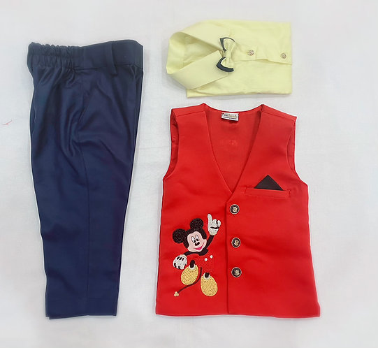 Mickey  Mouse in Waist Coat and Pant Set