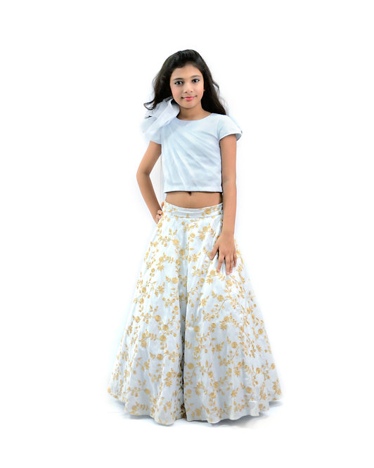 Jaal Emb Skirt and Top