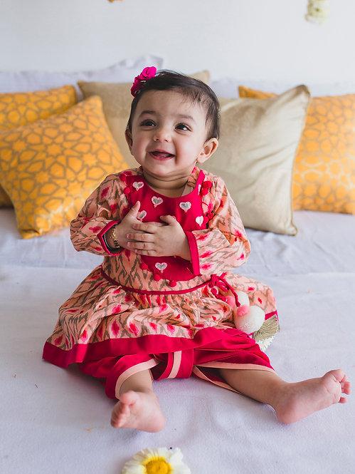 Angrakha Baby Pink Ikat