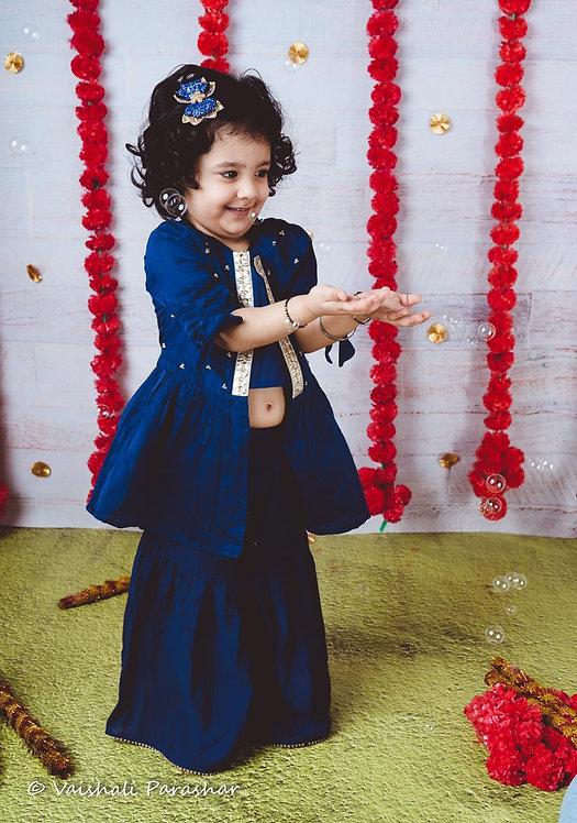 Jacket Style Sharara Set