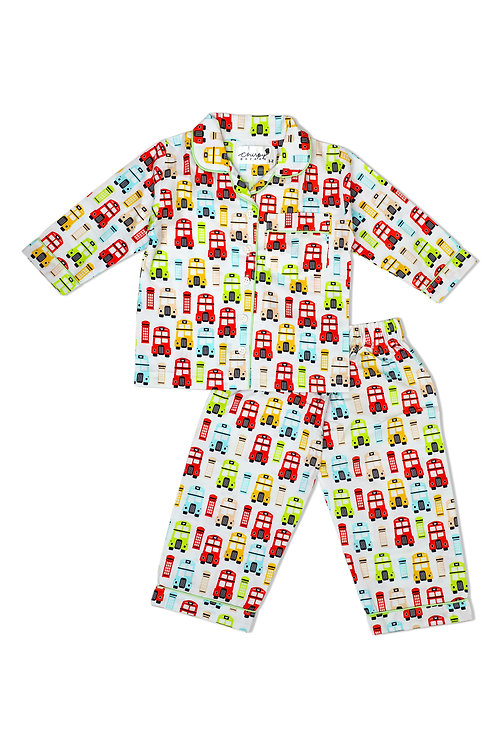 Adult - Colorful Retro London Theme Nightsuit