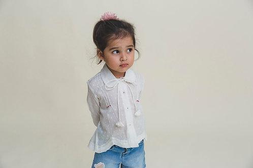 White Pin Tuck Shirt