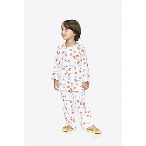 Soccer Ball Cotton Nightsuit
