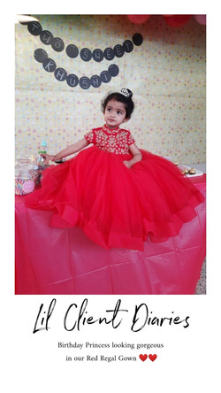 Red Multi Layered Gown