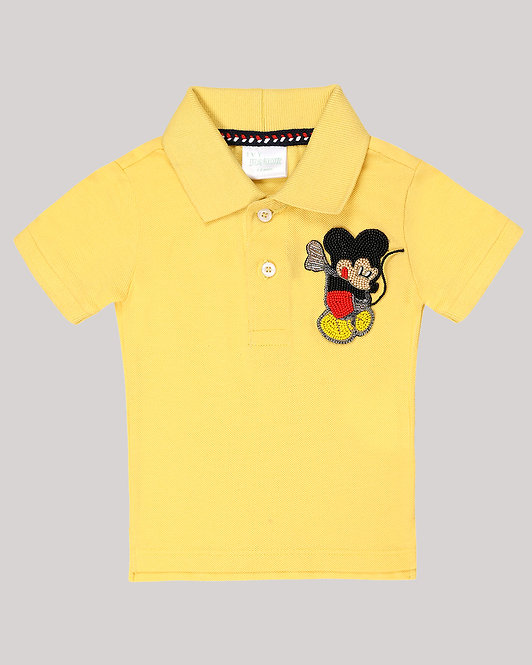 Polo T-Shirt With Mickey Mouse Motif