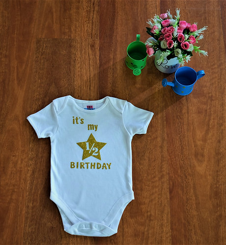 Half Birthday Printed Bodysuit