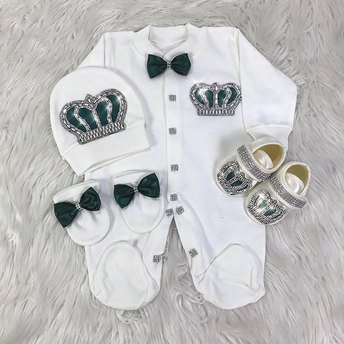 Royal Jewel Newborn Set -Green