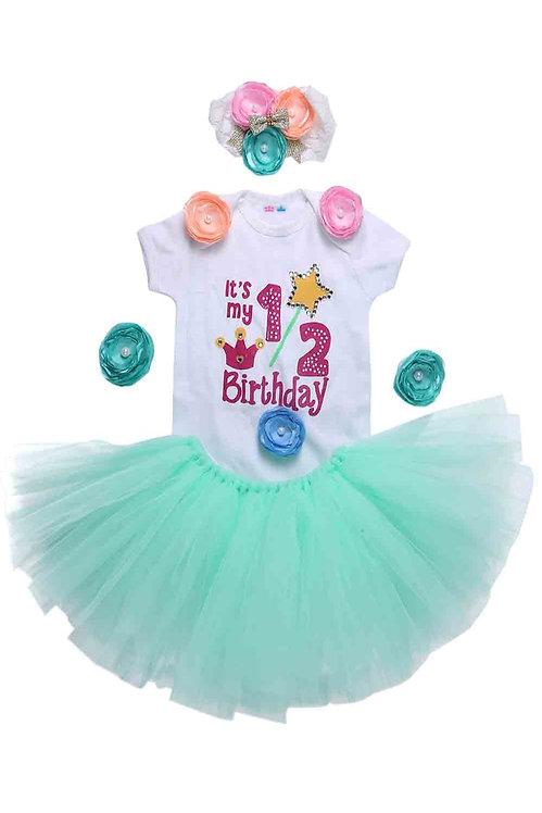 Mint Green Unicorn Half Birthday Tutu Outfit