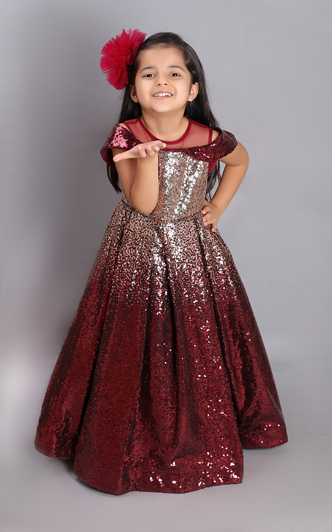 Glittered Dreams Gown-Red