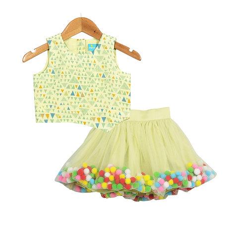 Pompom Tiana Skirt Set