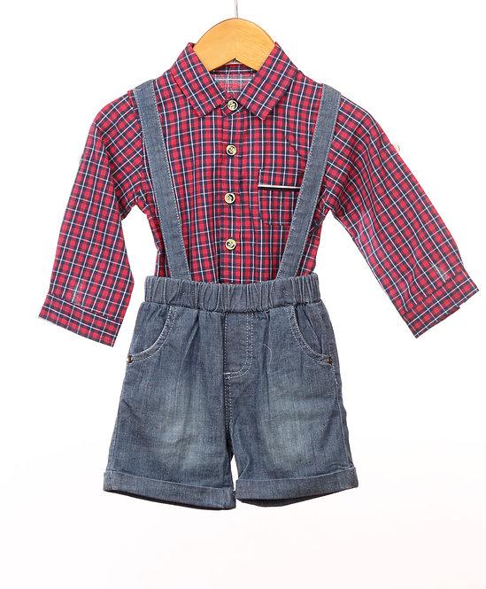 Reiki Farmer Shirt  Denim
