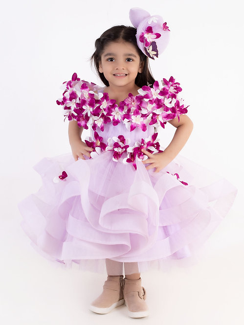 Enchanted Lilac Gown With Hair Accessory