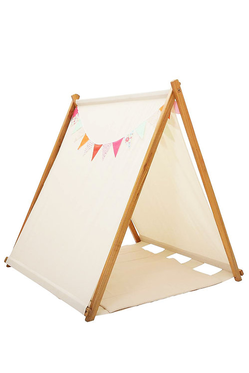 TLF CREAM TENT WITH COLORFUL BUNTING AND MATCHING MAT