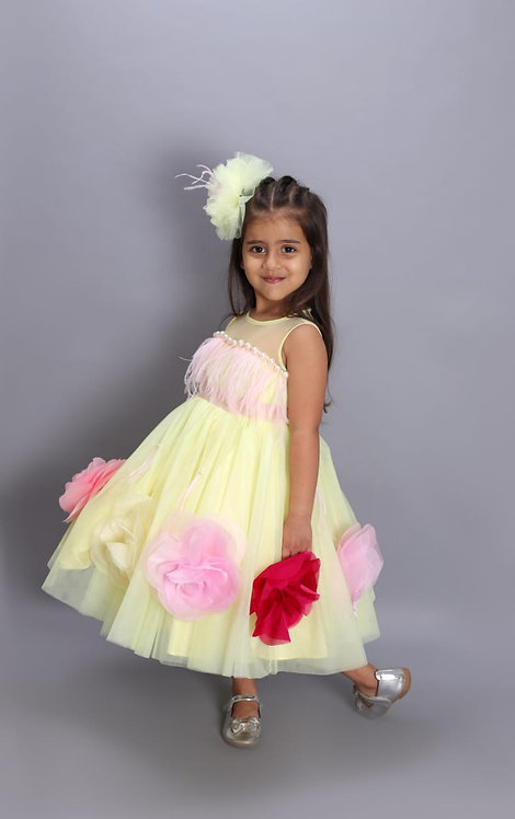 RS-Yellow Runway Dress