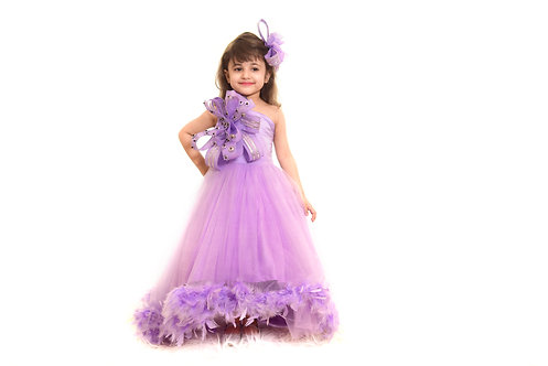 Lilac Feather Gown