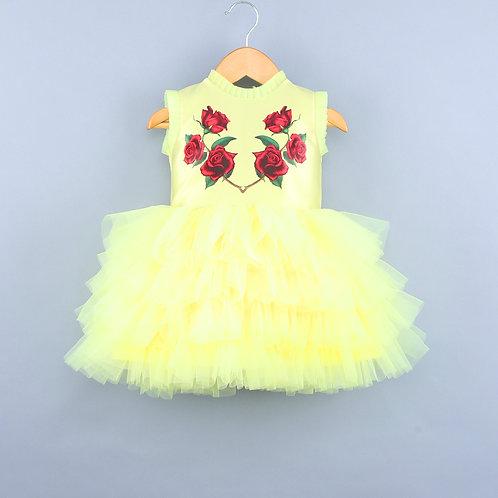 Rosy Yellow Dress