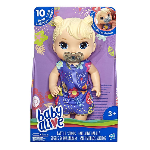 Baby Alive Lil' Sound Baby Doll, Toy Doll For 18 Months Old And Up
