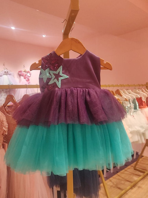 RS-Mermaid Star Dress with Hair Accessory