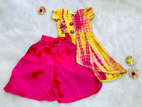 Tie and Dyed Kurta with Palazzo
