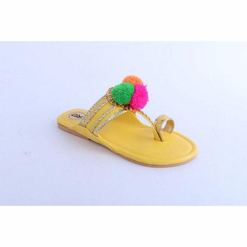 Pom-pom Kolhapuri-Yellow