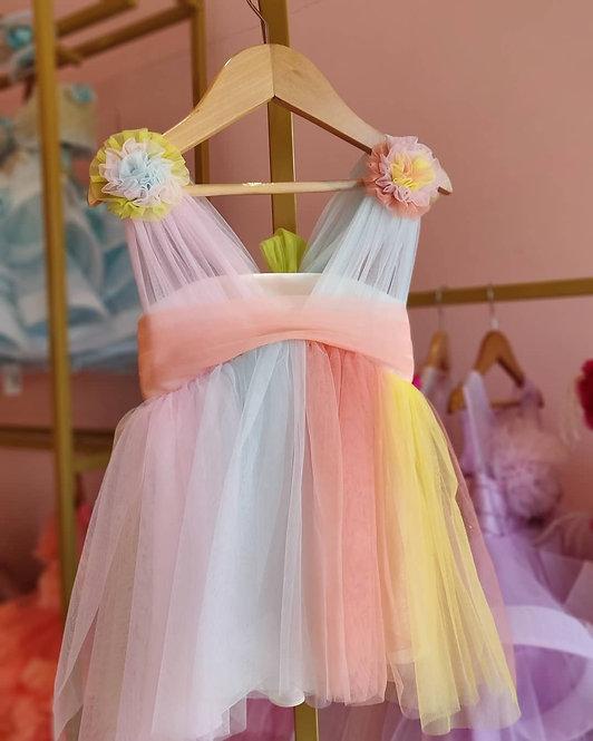 Draped Rainbow Dress