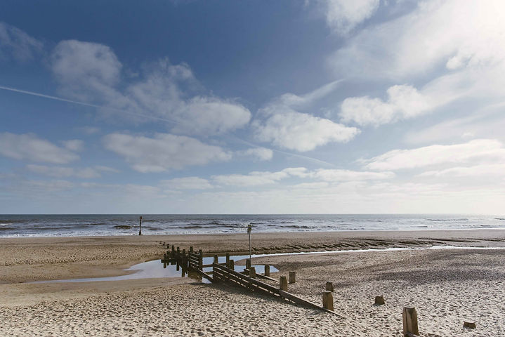 2104 Bacton beach sand and sea copyright