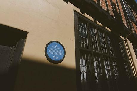 2104 Paston House plaque Charlotte Knee