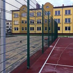 Ограждение для спортивной площадки из панелей 2D