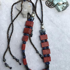 Coral, with Lapis beads-Choker.jpg