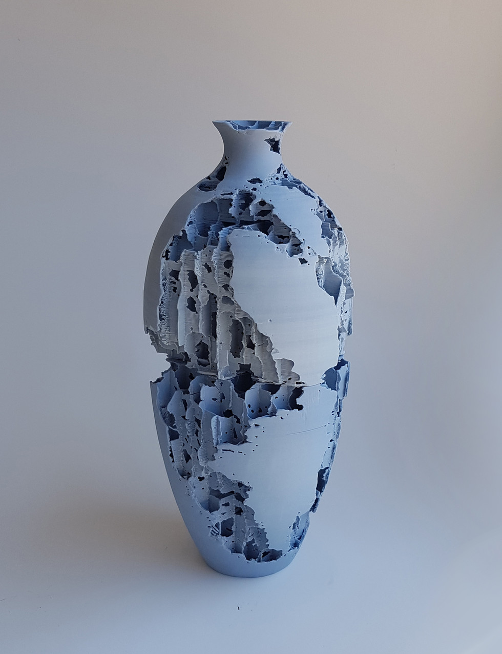 3D Printed Pottery Blue