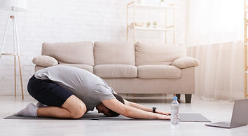 Stretching and yoga at home with online
