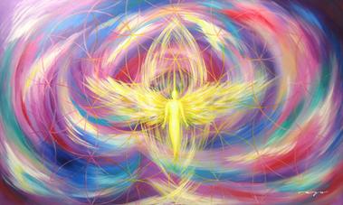 Angel de la Alegria y la liberación