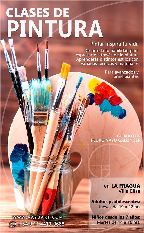 Clases de pintura en Villa Elisa, Entre Rios, La Fragua