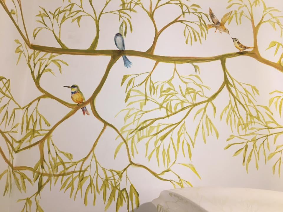 Naturaleza - Mural en consultorio medico
