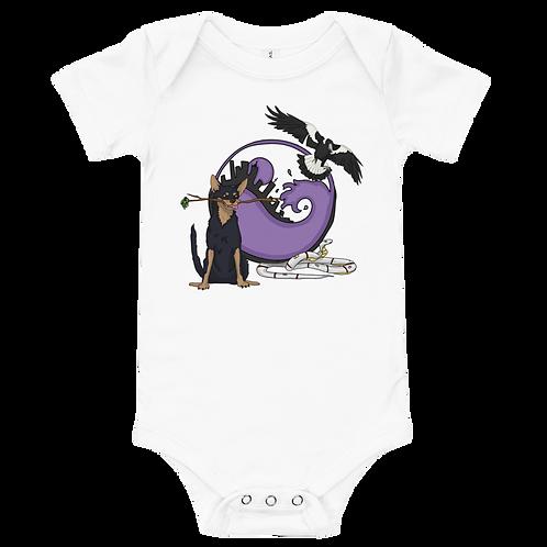 AnimalTotem and Logo - Baby short sleeve one piece