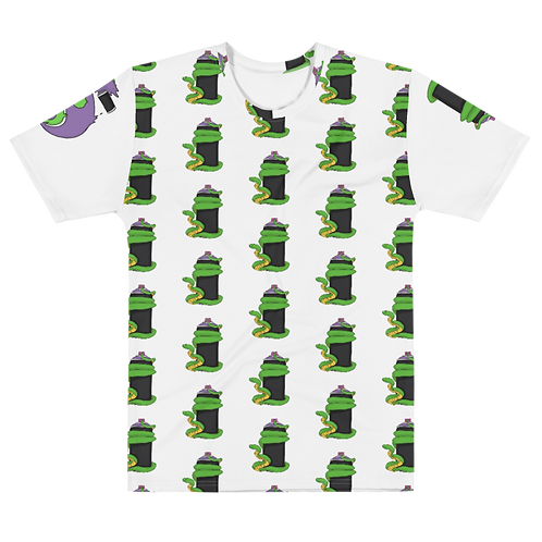 Snake in a Can - ALL OVER -Men's T-shirt