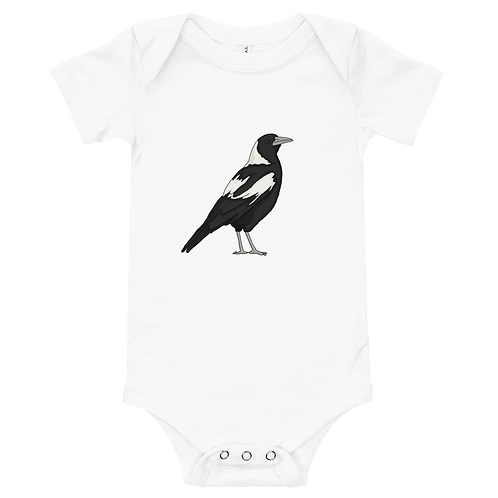 Welcome To Australia/Magpie - Baby short sleeve one piece