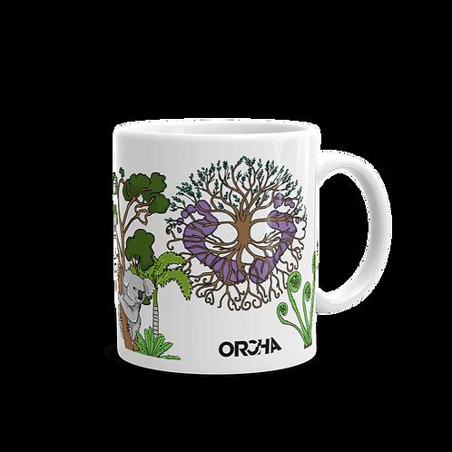 Virtual Foorprints Offical Merch - Limmited Edition - White glossy mug