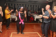 Guest Dancing at her Birthday Celebratio