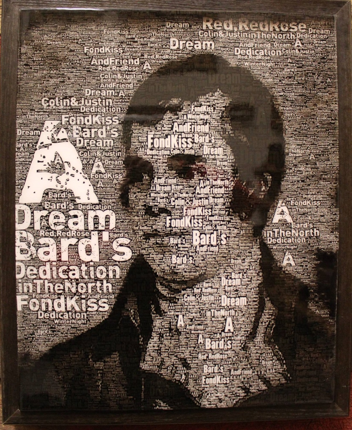 Robbie Burns Typography Resin