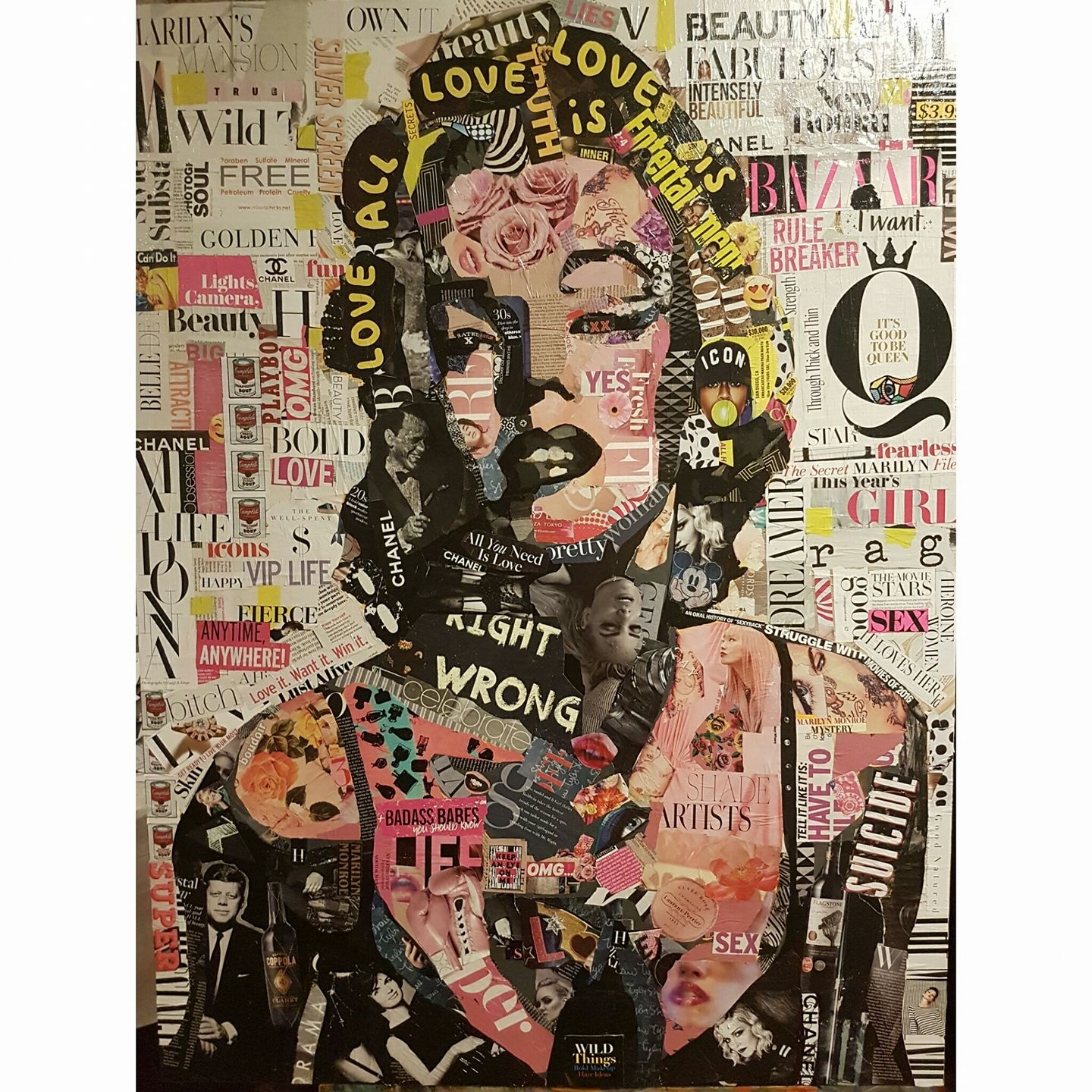 """Marilyn in Pieces"" Mixed Media"