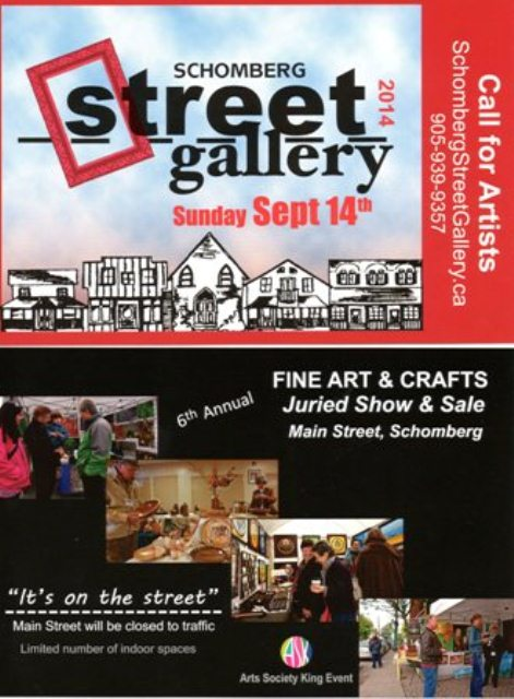 Schomberg Street Gallery Sept 2014