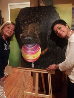 Ashley & Karina with Palomo