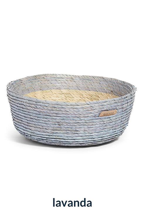 Round basket color outside