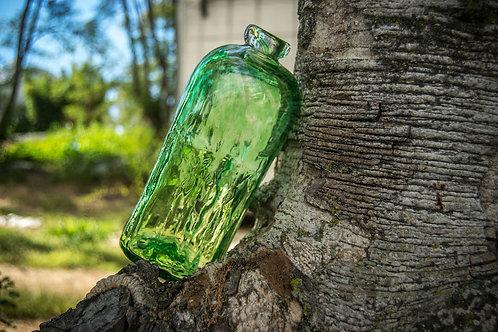 Blown glass bottle