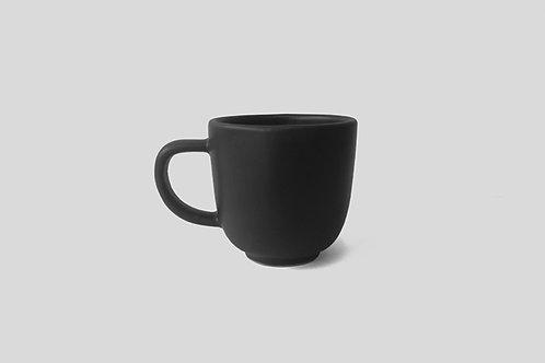 Black Ceramic Tea Mugs (Set of 2)