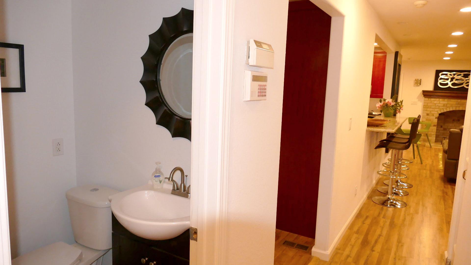 guest bathroom hallway